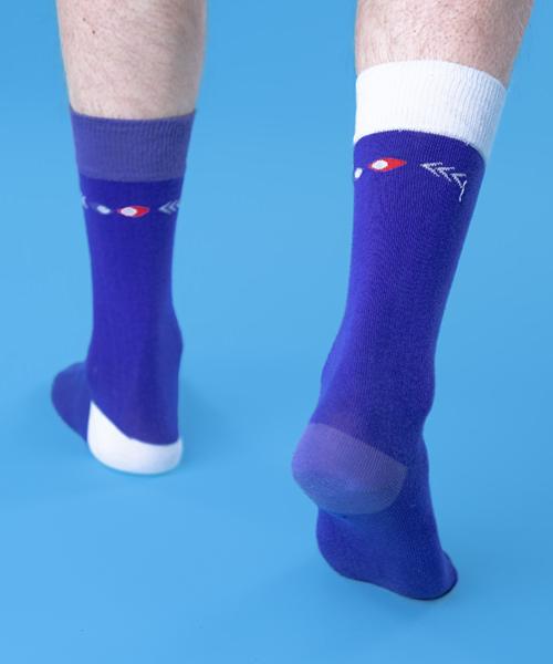 chaussettes droles bicolore dos