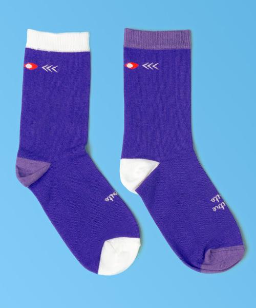 chaussettes droles bicolore