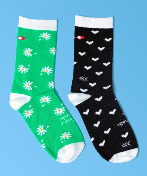 chaussettes droles paquerettes