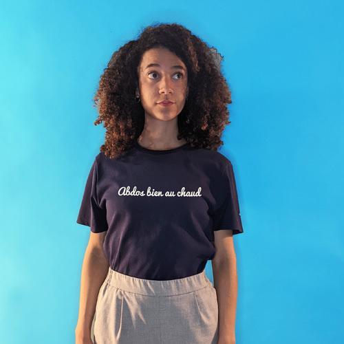 tee shirt confectionné en france femme abdos