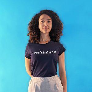 tee shirt français femme bleu marine j te l a fais