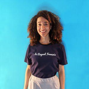 tee shirt français femme bleu marine le regard francais