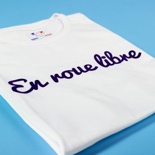 tee shirt francais femme en roue libre