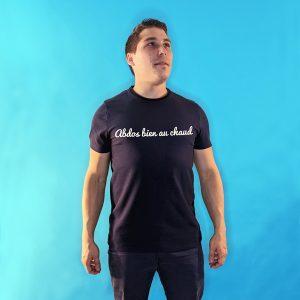 tee shirt français homme bleu marine abdos