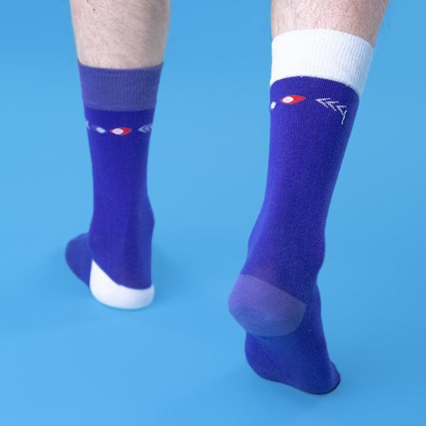 chaussettes dépareillées françaises la classique portée dos